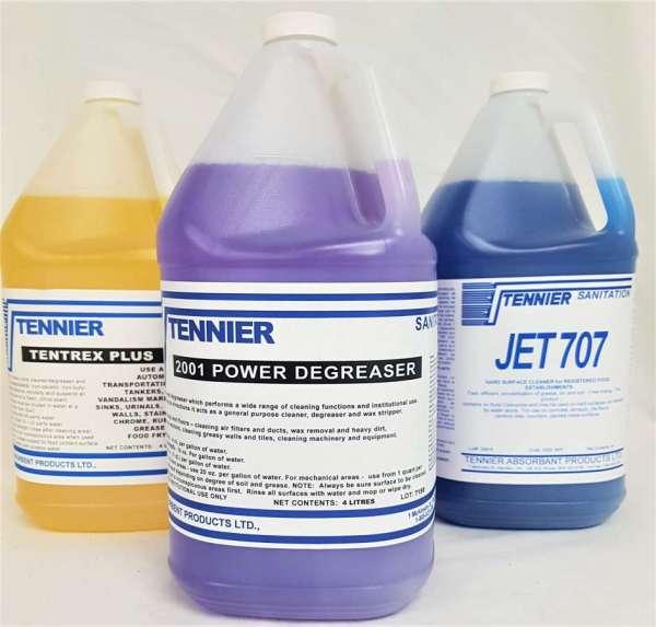 Hamilton's Tennier Sanitation custom degreasers