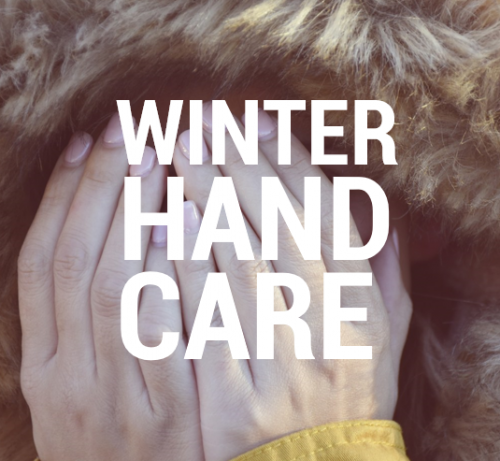 Employee hand care in winter