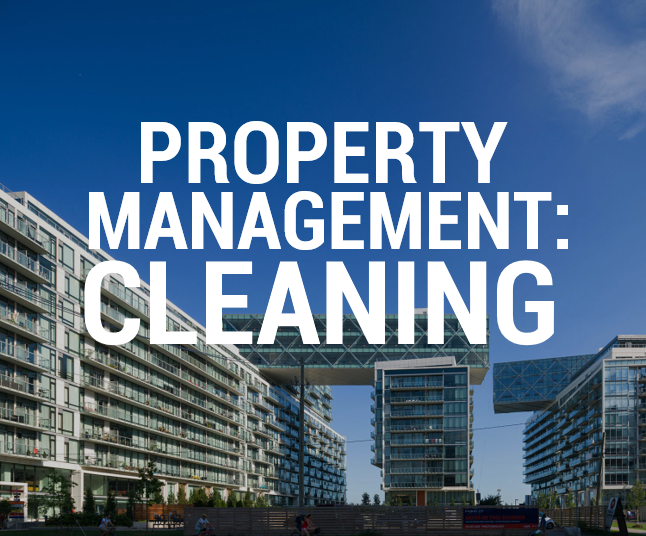 Tips for property management on cleaning