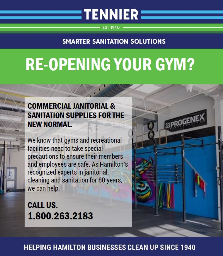 Tennier Sanitation can help reopen gyms